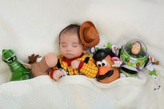 October 31st, Our #3 Muse of Halloween is good old Woody...taking a rest with the rest of his Toy Story buddies. Evie & Adrienne || Sustainable Baby Clothing and Accessories || Made in America || Be the Good || Fertility Awareness || www.evieandadrienne.com (original post) So cute I love this idea