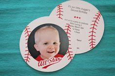 Season Opener: Baseball Party Ideas. Kids baseball party invitation from @Pear Tree Greetings