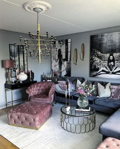 Living Room Designs elegant small living room decor ideas for you to get inspired Glam Living Room, Living Room Decor Cozy, Interior Design Living Room, Living Room Designs, Cozy Living, Living Rooms, Bedroom Decor, Living Room Inspiration, Velvet Armchair