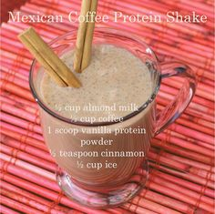 Smoothie of the day::: Mexican Coffee Protein Shake womensdietnetwork.com