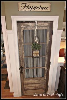 Old Door for Kitchen Pantry...LOVE THIS idea!!!