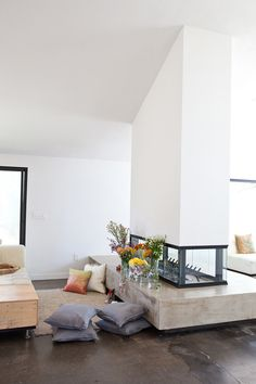 3 Marvelous Cool Tips: Faux Fireplace Shiplap cast concrete fireplace.Outdoor Fireplace With Tv. Old Fireplace, Concrete Fireplace, Living Room With Fireplace, Fireplace Design, Cottage Fireplace, Fireplace Bookshelves, Fireplace Furniture, Fireplace Outdoor, Black Fireplace