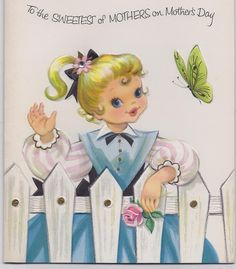 Vintage 50's Greeting Card to mother