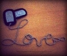 Military love... I want this but as a tattoo;) Too cute!