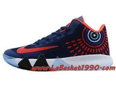 size 40 c1ca7 574c6 Nike Kyrie 4 - Chaussures de Basketball Pas Cher Pour Homme Bleu Rouge Blanc