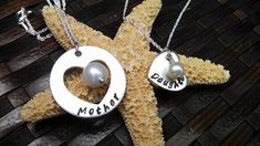 Hand Stamped Jewelry Stamped Mother Daughter by DawnsMetalDesigns