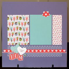 Stampin' Up!   Scrapbook Layout   all i create   Sweet Shop