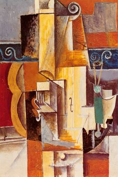Violin and Guitar By Pablo Picasso Canvas Giclee Art Print #329