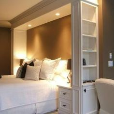 great idea with built-ins for bedroom LOVE IT by fotini