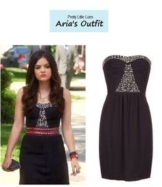 Lucy Hale as Aria Montgomery in Pretty Little Liars - (Ep. Lucy Hale Outfits, Pll Outfits, Cute Outfits, Pretty Little Liars Aria, Pretty Little Liars Outfits, Fashion Tv, Fashion Outfits, Aria Montgomery Style, Lucy Hale Style