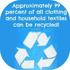 Do you have old clothing or household items want to donate? Donate To Charity, The More You Know, Go Green, Household Items, Recycling, Home Goods, Upcycle