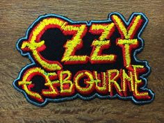 NEW  OZZY OSBOURNE Logo Iron On Metal Sabbath Embroidered Patch