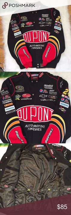 JEFF GORDON NASCAR JH DESIGN DUPONT JACKET TWILL Rare ✨ Vintage ✨  Dupont Jeff Gordon Nascar by JH Design Mens Size L Great condition - no stains, tears or stains  📷 Please see all photos - we do our best to accurately capture condition, measurements & all blemishes in our photos 📷   🌼 Smoke/pet free home 🌼  🌸 All clothing is freshly laundered before shipment. 🌸  ✨ Reasonable Offers Accepted ✨ Vintage Jackets & Coats Bomber & Varsity