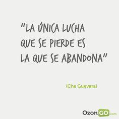 #Frases #motivacion #CheGuevara http://www.gorditosenlucha.com/