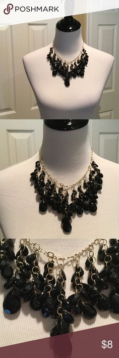 Black Bead Statement Necklace See pics Jewelry Necklaces