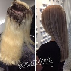 hard to believe the before and after is featuring the same hair from home dye to salon repair