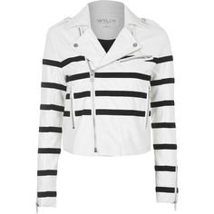 TOPSHOP **PU Biker Jacket by WYLDR (33.060 HUF) ❤ liked on Polyvore