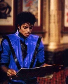The thriller jacket was originally blue because thriller was originally called starlight