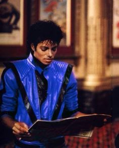 The thriller jacket was originally blue because thriller was originally called starlight