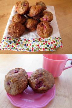 Oatmeal-raspberry muffins