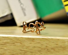 Hope copper wire ring. =]