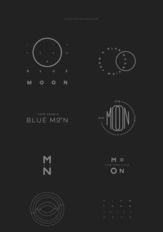 View From A Blue Moon #branding #logo #design