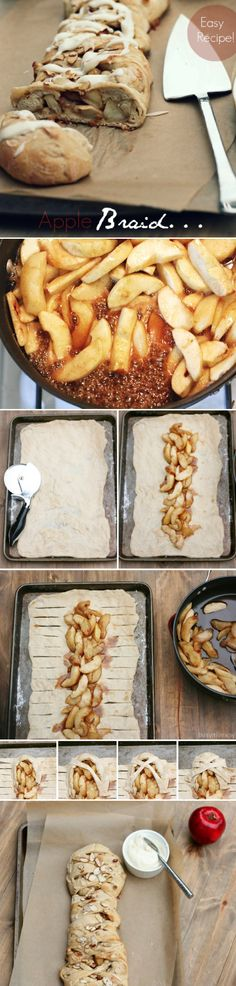 Apple Braid Dessert ~ you could even drizzle a little caramel or sprinkle a little cinnamon on top