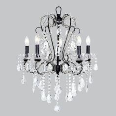 Chandelier - 5 Light - Carousel - Black