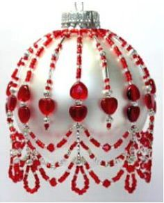 July Crystal Birthstone Ornament Cover Pattern