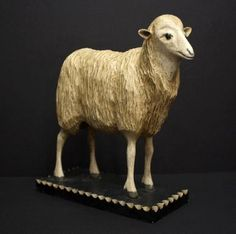 Sheep on Chip Carved Base, Finney Gallery