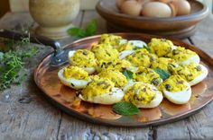 Medieval Stuffed Eggs Recipe and interesting article on the International Medieval Congress.