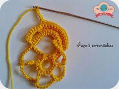 Irish crochet &: Amarilis Цветок для ИК step by step