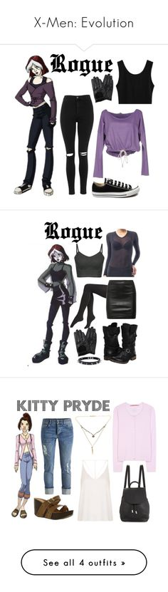 """""""X-Men: Evolution"""" by bebe6121985 on Polyvore featuring Topshop, Converse, Chicnova Fashion, Clark Jeans, Steve Madden, Via Spiga, The Row, Trend Cool, 81hours and rag & bone"""