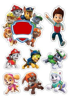 'PAW Patrol Characters' Sticker by in 2020 Bolo Do Paw Patrol, Paw Patrol Cake Toppers, Cumple Paw Patrol, Mr Bean Birthday, Paw Patrol Stickers, Paw Patrol Printable, Paw Patrol Birthday Card, Imprimibles Paw Patrol, Paw Patrol Party Decorations