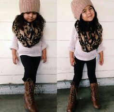 This girl is adorable in that outfit