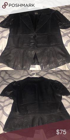 Leather blazer Arden b black leather blazer Arden B Jackets & Coats Blazers