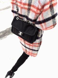 Cross-body Chanel with Celine laundry bag coat