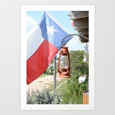 Buy Texas Flag and Lantern Art Print by Michael Burnett. Worldwide shipping available at Society6.com. Just one of millions of high quality products available.