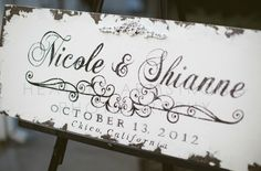 Beautiful wedding sign! #samesexwedding #sign