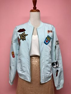 Bomber jacket con parches (2 colores) - OH MY! STORE