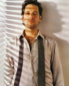 Paul Rudd. Love The Moody Light Next To The Window Especially From the shadows From The Blinds.