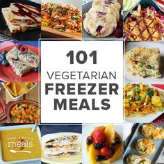 If you like to freezer cook minus the meat, we have 101 Vegetarian Freezer Meals to help stock your freezer and balance your budget!