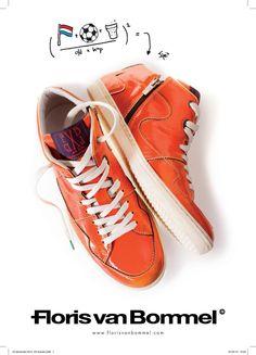 Orange sneakers by Floris van Bommel