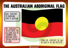 The Australian Aboriginal Flag. Aboriginal Art For Kids, Aboriginal Flag, Aboriginal Language, Aboriginal Education, Indigenous Education, Aboriginal Artwork, Aboriginal Culture, Indigenous Art, Naidoc Week Activities
