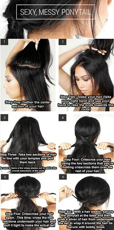 Easiest hair-do's - how-to..