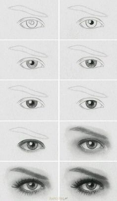 to draw a realistic eye Tutorial: How to Draw Realistic Eyes Learn how to draw a realistic eye step by step. MoreTutorial: How to Draw Realistic Eyes Learn how to draw a realistic eye step by step. Pencil Art Drawings, Art Drawings Sketches, Drawing Faces, Easy Drawings, Drawing Portraits, Drawing People Faces, How To Draw Portraits, How To Draw Faces, Art Illustrations
