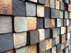 • Refurbished Wood for this wall cladding