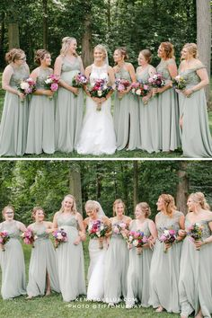 'Sage Green' is the color of the year and for good reason! That is why we offer 'Sage Green' bridesmaid dresses in over 70 styles. Perfect for the mismatched look, 'Sage Green' is perfectly muted and neutral enough to match whatever vibe you are going for! Shop all our styles of 'Sage Green' with Kennedy Blue! From neutrals to pops of color, Kennedy Blue has your perfect shade and style of bridesmaid dresses for your wedding!   sage green bridesmaid dresses   #kennedyblue Affordable Bridesmaid Dresses, Mismatched Bridesmaid Dresses, Green Bridesmaid Dresses, Blue Bridesmaids, Wedding Dresses, Photography Ideas, Wedding Photography, Party Looks, Wedding Photos