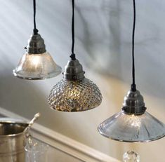 mercury glass pendant lights