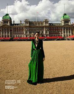 """""""Fabulous London"""": Bonnie Chen by Zack Zhang for Bazaar China July 2012"""